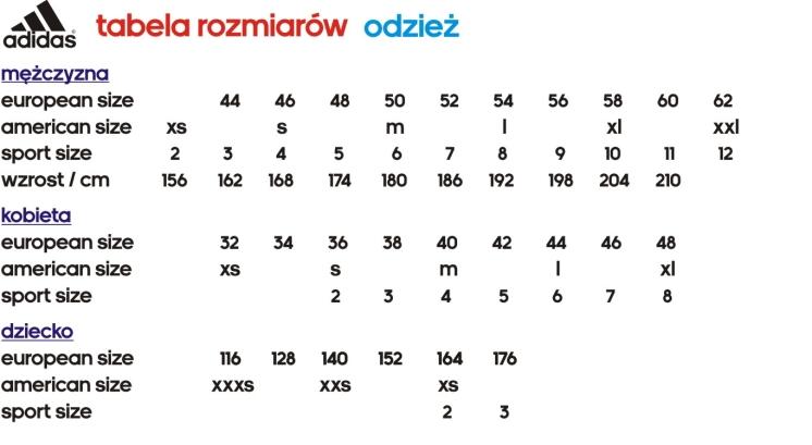 adidas bluza rozmiarowka